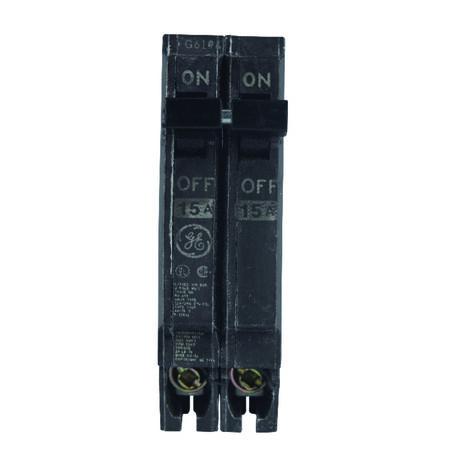 GE Q-Line Double Pole 15 amps Circuit Breaker