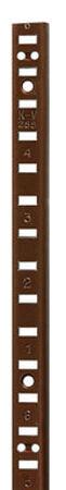 Knape & Vogt Aluminum Walnut 17 Ga. Shelf Pilaster 48 in. L