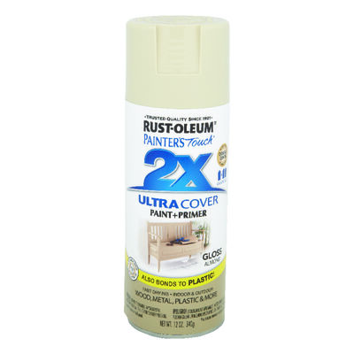 Rust-Oleum Painter's Touch Ultra Cover Almond Gloss 2x Paint+Primer Enamel Spray 12 oz.