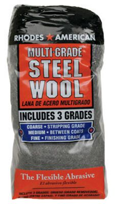 Rhodes American 4 in. W x 8 in. L Coarse Multi Grade Grade Steel Wool