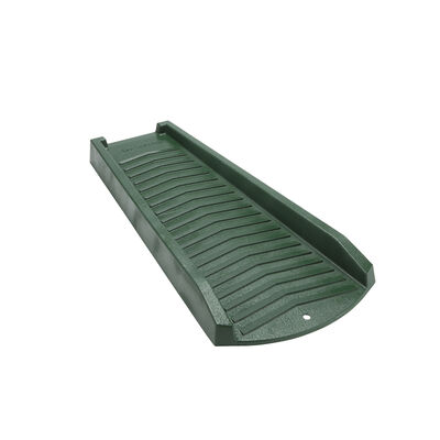 Amerimax 2 in. H x 11 in. W x 24 in. L Green Vinyl Splash Block