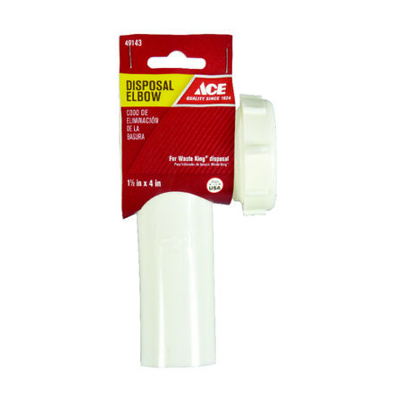 Ace Garbage Disposal Elbow White