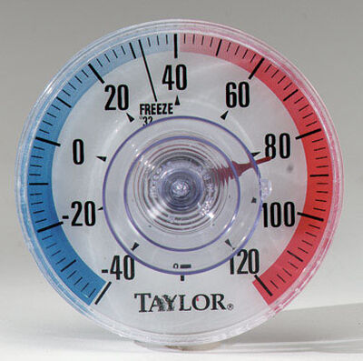 Taylor Dial Thermometer 3-1/2 in. Clear/Red/Blue Outdoor