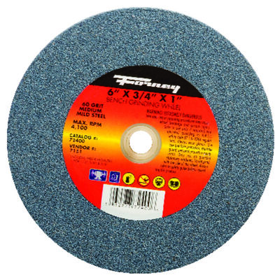 Forney 6 in. Dia. x 3/4 in. thick x 1 in. Bench Grinding Wheel