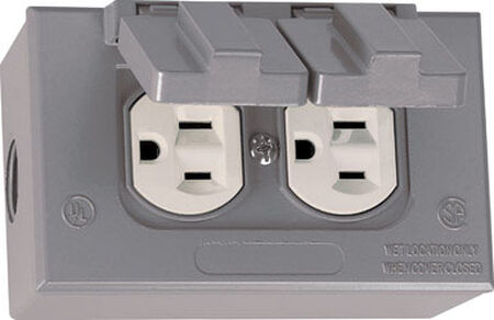Sigma Electrical Receptacle 15 amps 125 volts Gray