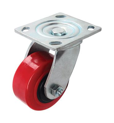 Shepherd Polyurethane 4 in. Dia. Swivel Caster Red 600 lb.