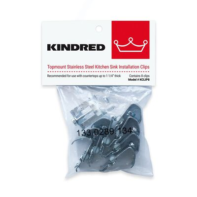 Kindred Stainless Steel Sink Mounting Clips