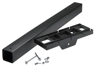 Solar Group Gibraltar 6-1/2 in. H x 17 in. W x 70-1/4 in. L Black Polymer Mailbox Post and Mounti