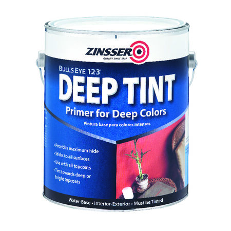 Zinsser Bulls Eye 123 Deep Tint Water-Based Interior and Exterior Primer and Sealer 1 gal. Whit