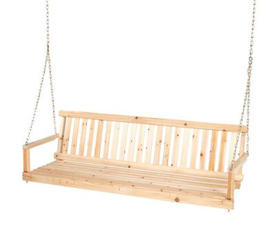 Living Accents Jennings Porch Swing Wood Natural Fir 400 lb. 21-1/2 in. D x 17-3/4 in. H x 60 i