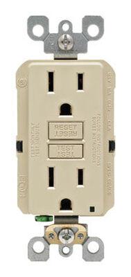 Leviton GFCI Receptacle 15 amps 5-15R 125 volts Ivory