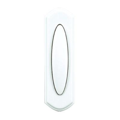 Heath Zenith White Wireless Pushbutton Doorbell