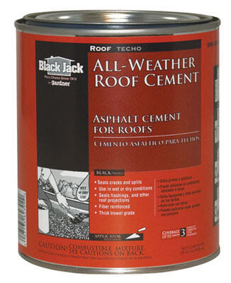 Black Jack Patching Cement All-Weather Roof Cement 1 qt. Black