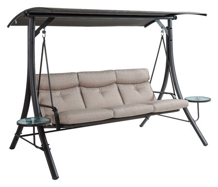 Living Accents Steel 3 person Hi-Back Swing 65.8 in. 79 in. 47.87 in. 750 lb.