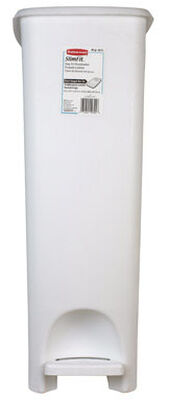 Rubbermaid 45 White Slim Step Wastebasket