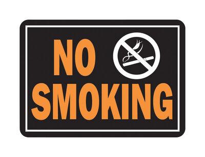 Hy-Ko English 10 in. H x 14 in. W Aluminum Sign No Smoking