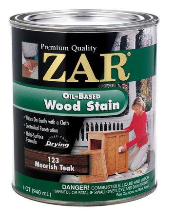 ZAR Semi-Transparent Oil-Based Wood Stain Moorish Teak Tintable 1 qt.