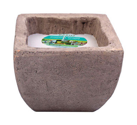 Patio Essentials Stone Citronella Oil Candle with Holder 6 oz.