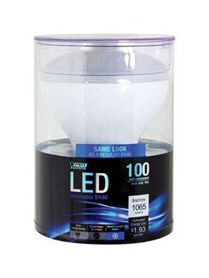 FEIT Electric 16 watts 1065 lumens 5000 K E26 BR40 LED Bulb 75 watts equivalency Daylight Refle
