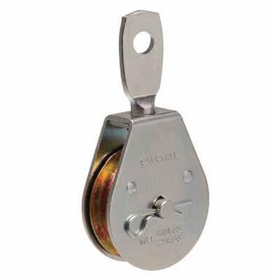 Campbell Chain Single Sheave Swivel Eye Pulley 2 in. Swivel 480 lb. Steel