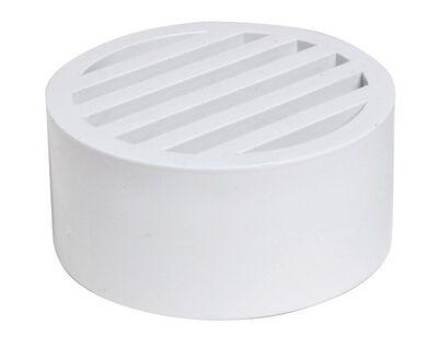 Plastic Trends 3 in. White PVC Round Drain Grate