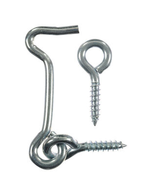 Ace 5/32 2 in. L Zinc Plated Hook and Eyes 1 pk Steel
