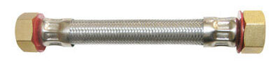 Ace 3/4 in. FIP x 3/4 in. Dia. FIP Stainless Steel 2 ft. Supply Line