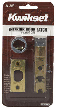 Kwikset Interior Steel Bright Brass Door Latch