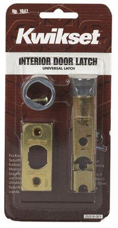 Kwikset Interior Steel Bright Brass Door Latch