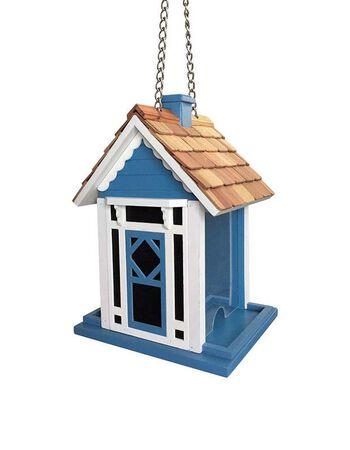 Home Bazaar Songbird 1.8 lb. Wood Hanging Hopper Bird Feeder 2 ports