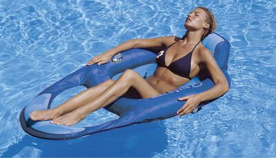 Swimways Blue Fabric/Mesh Floating Recliner