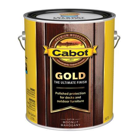 Cabot Gold Transparent Satin 3473 Moonlit Mahogany Oil-Based Natural Oil/Waterborne Hybrid St