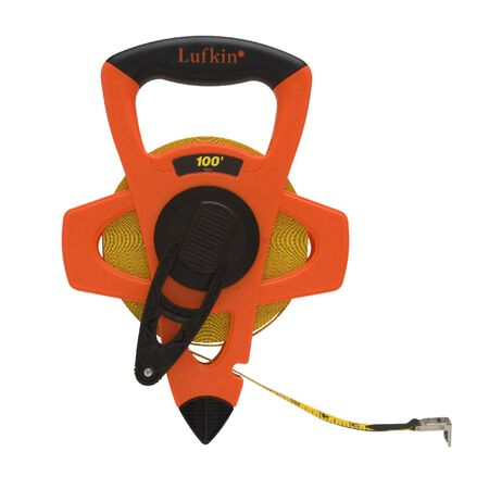 Lufkin Reel Rewind Tape Measure 1/2 in. W x 100 ft. L
