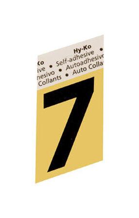 Hy-Ko Self-Adhesive Black Aluminum Number 7 1-1/2 in.