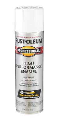 Rust-Oleum Professional White High Gloss Enamel Spray 15 oz.