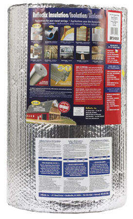 Reflectix Reflective Insulation R-3.7 to R-21 24 in. W x 50 ft. L Roll 100 sq. ft. Energy Star