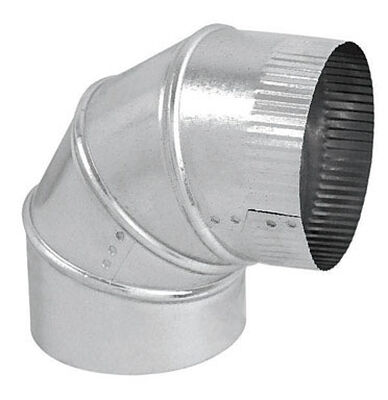 Imperial Manufacturing 6 in. Dia. x 6 in. Dia. 90 Galvanized Steel Stove Pipe Elbow