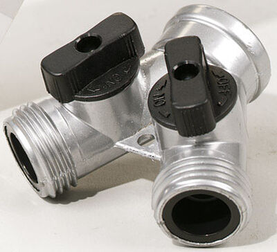 Ace Zinc Hose 2-Way Shut-off Valve Threaded