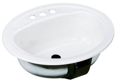 Bootz Azalea Oval 17 in. Lavatory Sink White