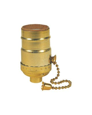 Westinghouse Pull Chain Socket 250 volts 250 watts Brass