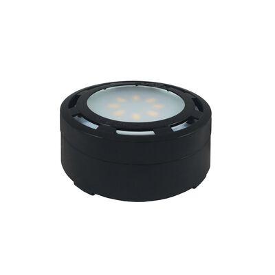 AmerTac Kibo Collection Plug-In LED Under Cabinet Light Puck Black 1000