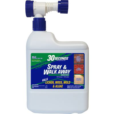 30 SECONDS Spray & Walk Away Lichen, Moss, Mold, Algae Killer 64 oz.