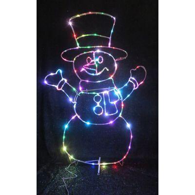 Celebrations LED Micro Dot Snowman Yard Art Multicolored 1 pk Iron