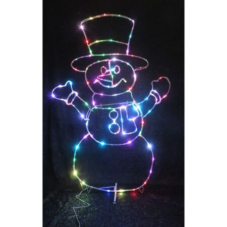 Celebrations LED Micro Dot Snowman Yard Art Multicolored 1 pk Iron