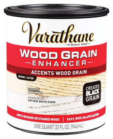Varathane Semi-Transparent Water-Based Wood Grain Enhancer Black 1 qt.