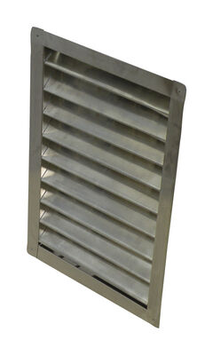 Air Vent Wall Louver 12 in. W x 18 in. L Silver