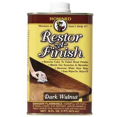 Howard Restor-A-Finish Semi-Transparent Oil-Based Wood Restorer Dark Walnut 1 pt.