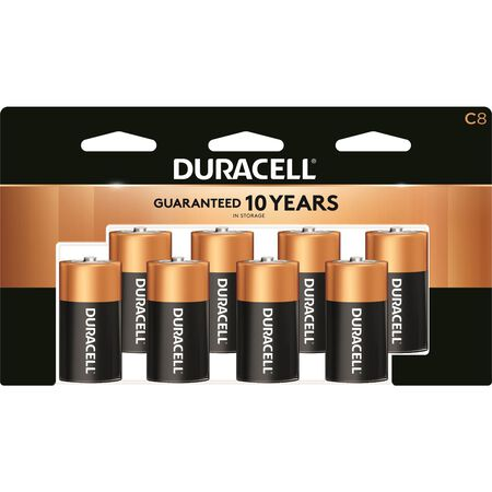 Duracell Coppertop C Alkaline Batteries 1.5 volts 8 pk