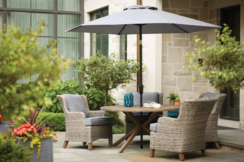 Living Accents 5 pc. Patio Set Gray | Stine Home + Yard ... on Living Accents Patio id=27892