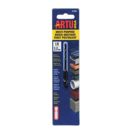 ARTU Multi-Purpose Carbide Tipped Hex 1/8 in. Dia. Quick Connect Drill Bit